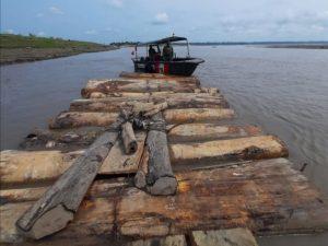 Intervienen 115 trozas de madera rolliza en Loreto