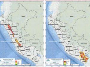 110 distritos de la sierra en riesgo muy alto por lluvias