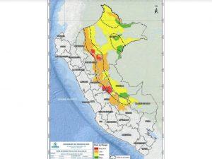 57 distritos de la selva en riesgo de sufrir emergencias por lluvias