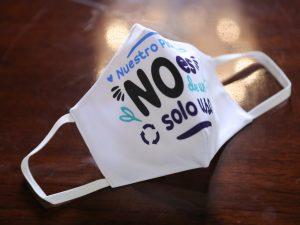 Promueven uso de mascarillas reutilizables