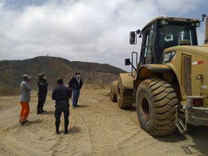 Intervienen extracción de materiales mineros no metálicos en Máncora