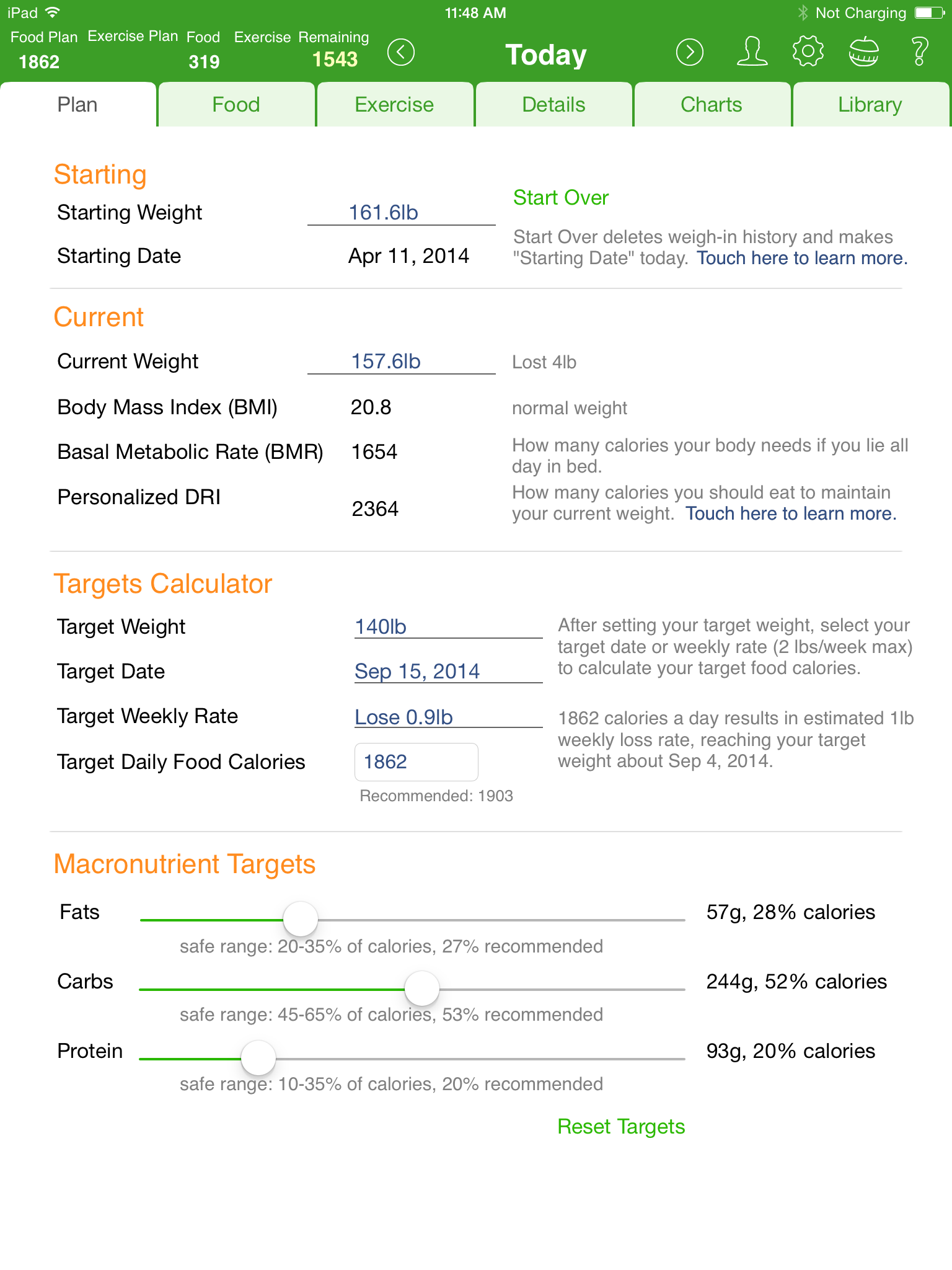 The best ipad food diary and calorie counter app mynetdiary planning reports and charts helps you to stay on track nvjuhfo Gallery