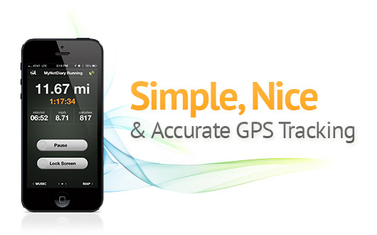iPhone GPS Tracker App for running, walking, cycling