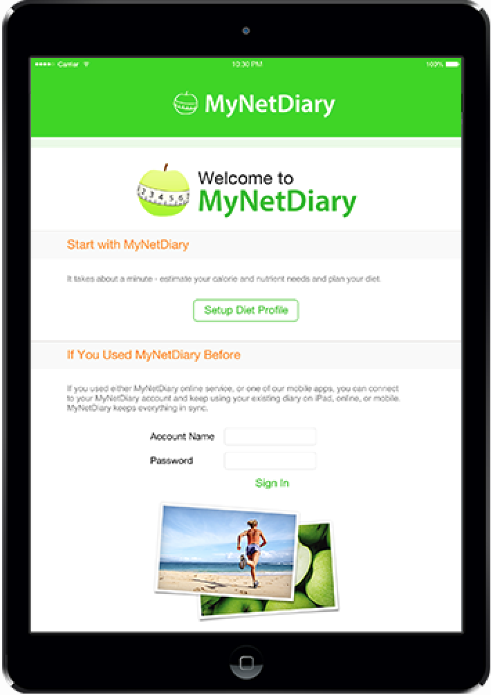Backed Up by MyNetDiary.com - with online, iPhone, and BlackBerry diet tools