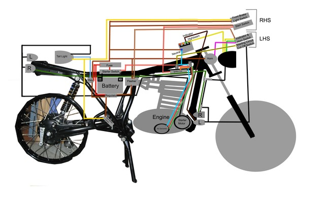 yamaha sr500 sr400 forum • view topic wiring diagram n b there are two electrical devices which are in the wrong places