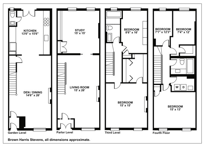 New york brownstone house plans for Brownstone plans