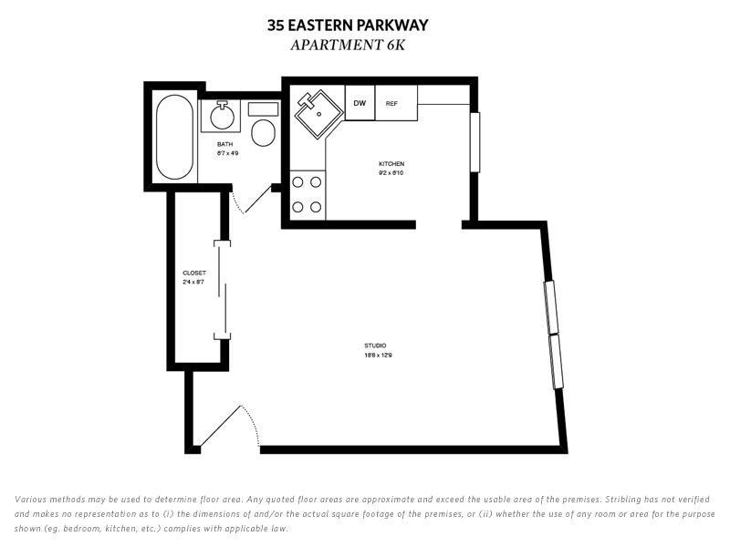 5 Tiny But Cute Nyc Studios For 350 000 Or Less Curbed Ny,3 Bedroom Apartment Floor Plans With Dimensions