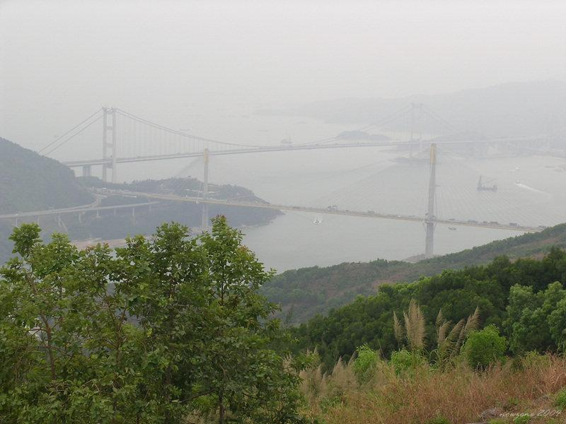 Tsing Yi and Ting Kau Bridge下望青衣及汀九橋