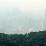 遠眺糢糊一片的荃灣景色