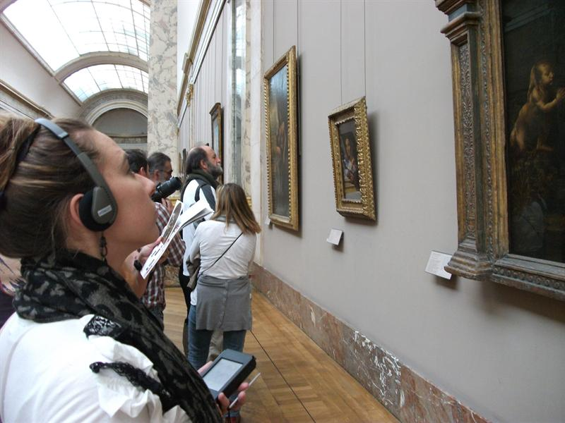 Me looking at Italian Paintings with my audio guide that cost me 6 Euros.