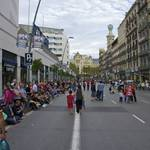 People were getting ready for the parade on Pelayo Street