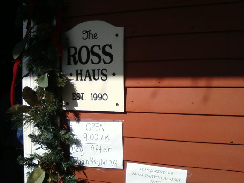 Christmas Haus and Ross Haus are the same