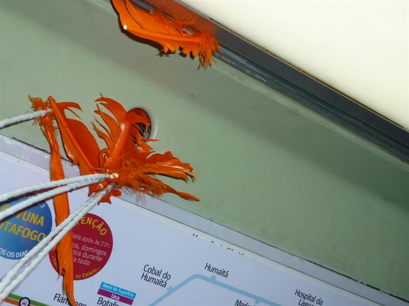 Had a bit of trouble with my feathers and the height of the metro doors!