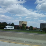 a view from I-270 of Westport Plaza
