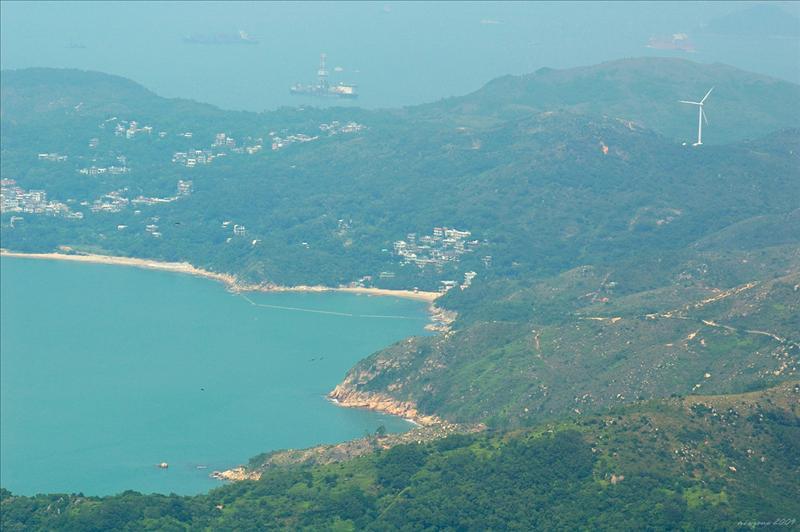遠眺大嶺發電站及洪聖爺泳灘