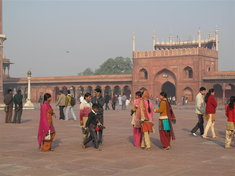 Locals at Jama Masjid