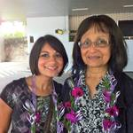 Mom and me at the Sri Lankan airport