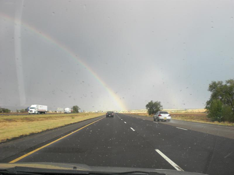Double rainbow in NM