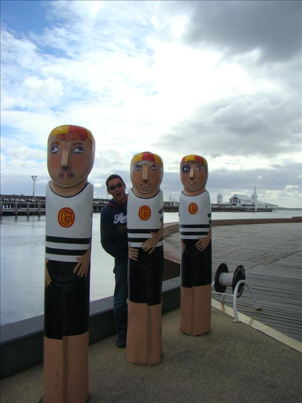 Phil with Bollard people