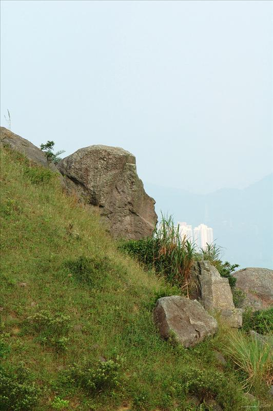 下花山小徑旁的猴頭石