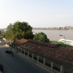 View from our room at the Riverside Hotel in Phnom Penh.