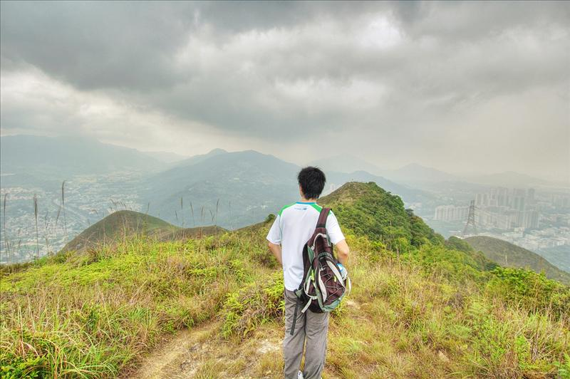 到達龍山三百七十米主峰大嶺山(大人峒) Lung Shan