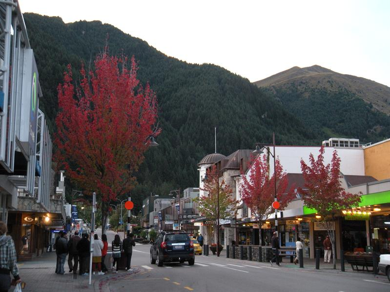 Red trees at Queenstown
