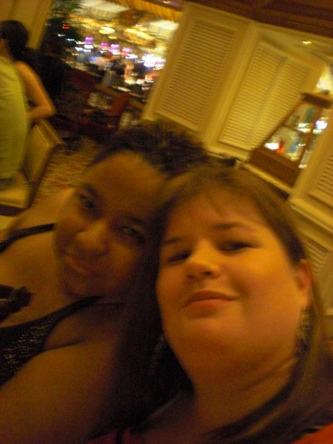 Us in lobby bar @ Bellagio