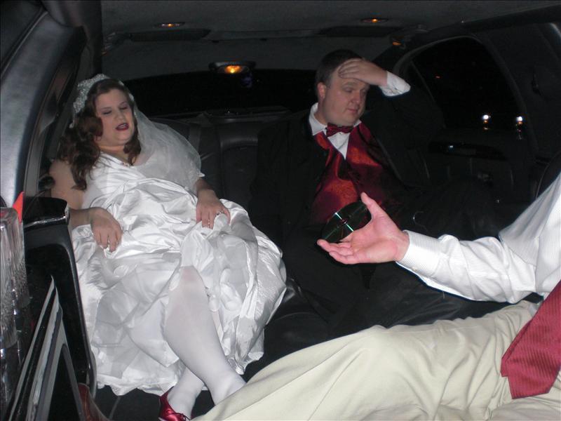 Think the groom has a headache