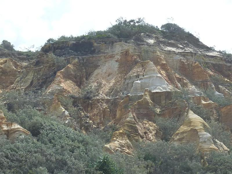 Some of the coloured sands along the east coast