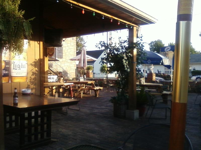 a view from the back of the patio