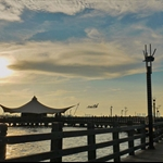 Sunset in Ancol.