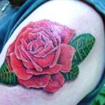 Stacy tattooed my beautiful rose!  Tim