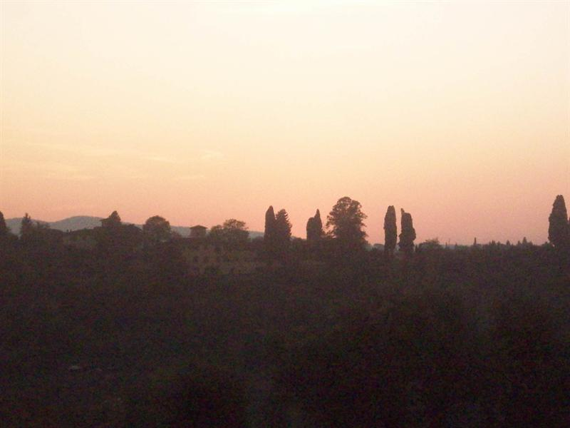 Sunset over florence on the michael angelo hill