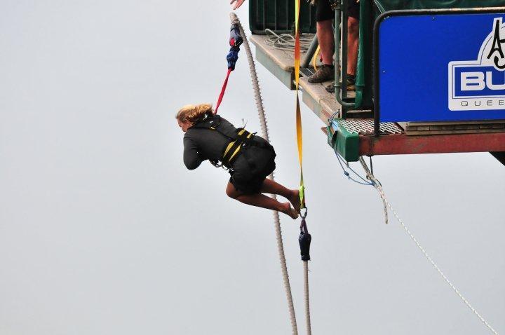 Birthday bungy jump - Queenstown, NZ....16 mins later!!!