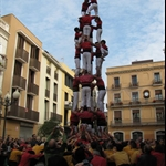 Human tower  in Vilanova nearly complete...