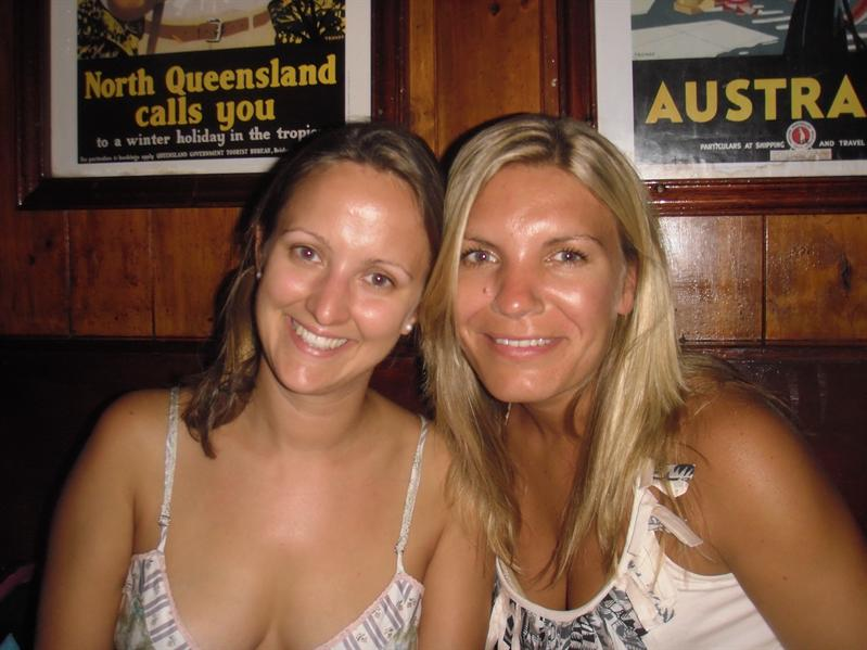 Annette et moi at the Woolshed