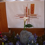 ALIM3893.JPG  Rock with Calla Lily and Oregon bluebells