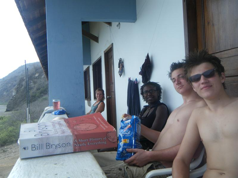 the isla de plata group, me john, monica and nicola
