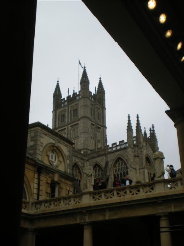 View of Bath Abbey from The Roman Baths - 27th May