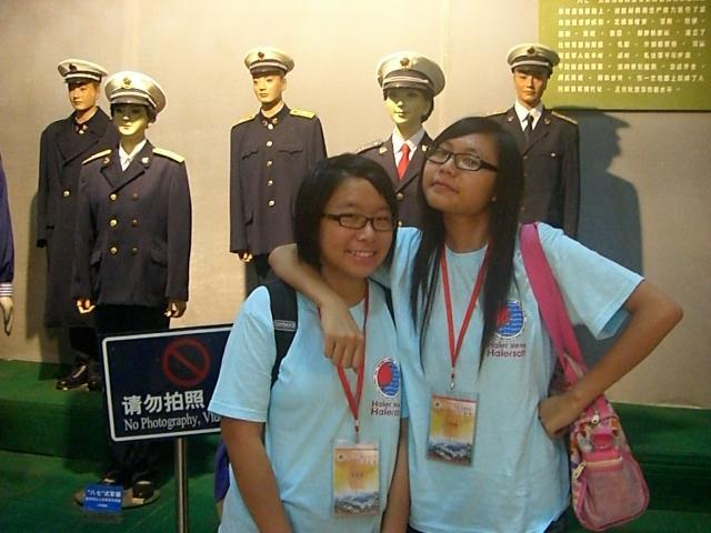 Jessica and Tiffany @ 海軍博物館  (請無視請勿拍照)