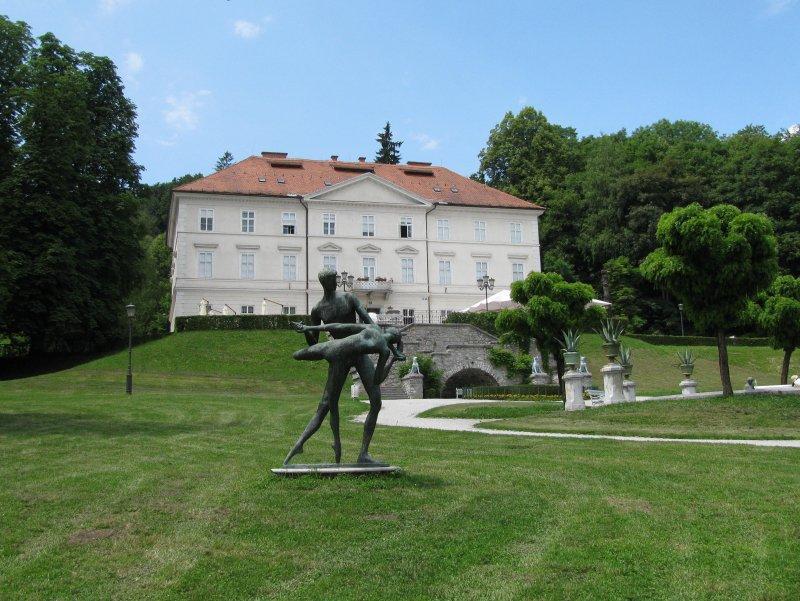 Around the cosy capital city, Ljubljana are the Tivoli gardens ...