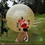 Survived Zorbing! Soooo much fun.