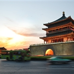 Xian Bell tower in the evening