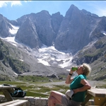 .. the refuge overlooking the glaciers and the highest Pyrenean mountain.