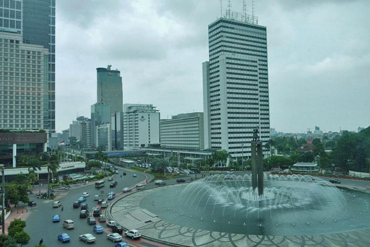 Bundaran Hotel Indonesia or Hotel Indonesia Square.