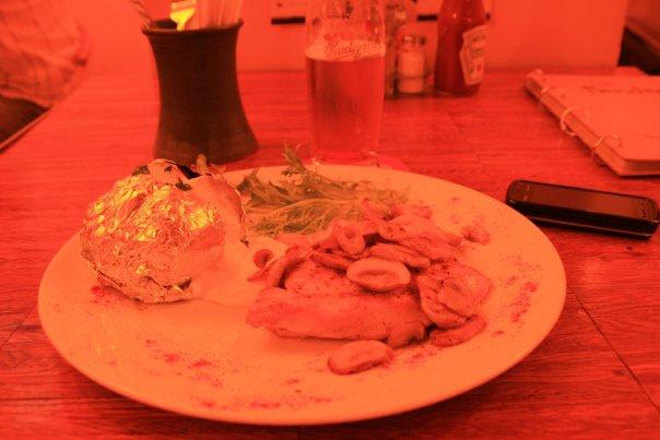 A red-lighted dinner.