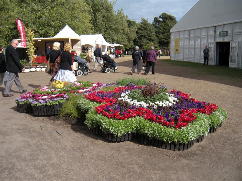 The classic symbol of the Ellerslie Flower Show in flowers