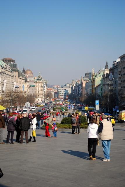 View down Wenceslas Square