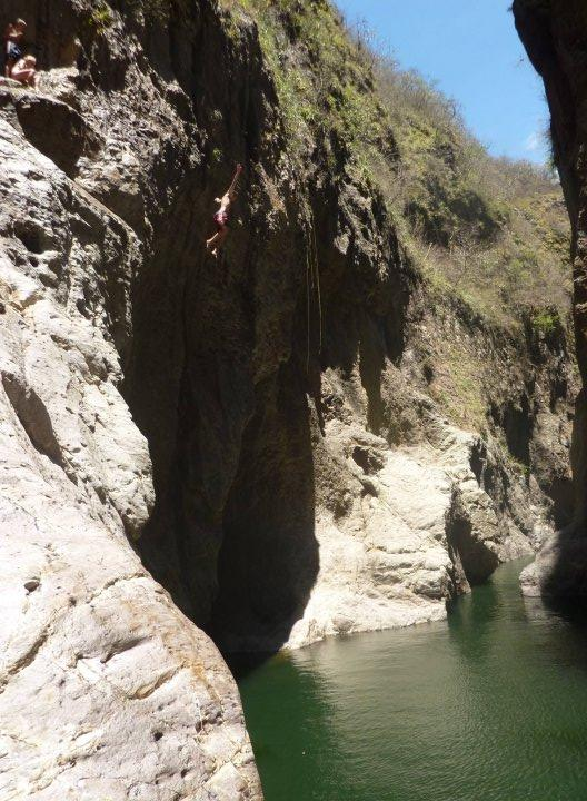me jumping off the canyon side